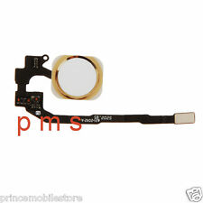 Gold White Home Menu Button with Flex Cable Replacement Parts for iPhone 5S