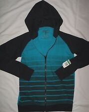 Nwt~Boys Sz.L 12-14 Epic Threads blue & black fleece zip front Jacket~Hoodie