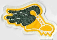 CHENILLE LETTERMAN JACKET PATCH YELLOW GREEN WINGED SHOE TRACK CROSS COUNTRY RUN