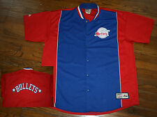 Vintage BALTIMORE BULLETS Shooting Warm-up Snap JACKET-now as washington wizards