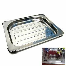New Stainless Steel Perforated Rectangular Drainboard For Kitchen Sink Silver