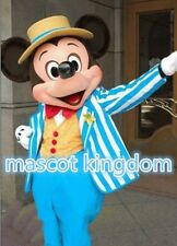 High Quality Blue Mickey Mouse Mascot Costume Cosplay Party Dress Adult Size