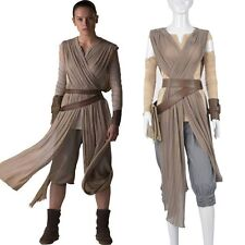 Top Grade Star Wars The Force Awakens Rey Cosplay Costume Full Set