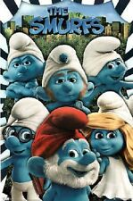 THE SMURFS 22x34 NEW GROUP POSTER TV SHOW MOVIE FREE SHIPPING