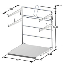 T-Shirt Bag Rack Chrome Freestanding Retail Store  Made In The USA Lot of 2 NEW