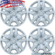 """4 NEW OEM SILVER 16"""" HUB CAPS FITS NISSAN SUV CAR ABS CENTER WHEEL COVERS SET"""