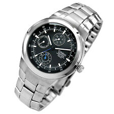 Casio EF305D-1A Analog Men Day Date Stainless Steel 100M Watch NEW SPORT CLASSIC