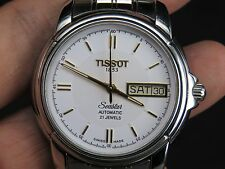 TISSOT 1853 SEASTAR 2846 21J SWISS STAINLESS STEEL DAY DATE AUTOMATIC MENS WATCH