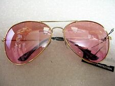 WOMEN'S  EXTRA LARGE AVIATOR SUNGLASSES-BIG-OVERSIZED 65mm PINK LENSES XXL