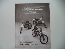 advertising Pubblicità 1978 MOTO VILLA CROSS 125/250/380
