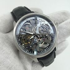 RARE Maurice Lacroix Masterpiece Skeleton Squelette 45mm Men's Chronograph Watch