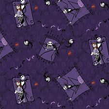 "1 yard Springs Tim Burton ""Nightmare Before Christmas Couple""  Fabric"