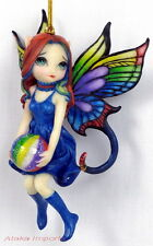 MIDNIGHT RAINBOW FAIRY ORNAMENT FIGURINE.JASMINE BECKET-GRIFFITH ART