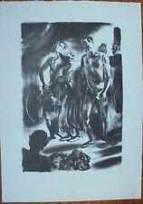 Lithographie par Edy LEGRAND signée.Cirque.Chien de Pique.1930