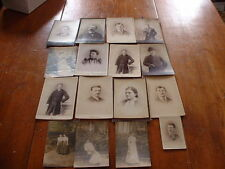 Lot of 16 Antique Photographic & RRPC  Images