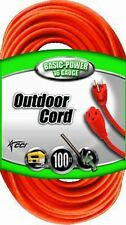 Coleman Cable Vinyl Heavy Duty Outdoor Power Extension Cord Orange 100 ft 02309