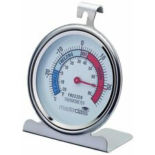 10cm Master Class Deluxe Large Stainless Steel Fridge Thermometer - & Freezer