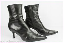 Bottines Boots JANIE PHILIP Paris Cuir Noir T 41 TBE