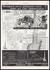 Publicité Citroen recommande le cric hydraulique Lift  car vintage ad  1929 - 6h