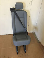 2015 Ford Transit Van 1 Person Rear Seat Gray Vinyl with Rails and Bolts