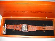 STAR WARS (CLONE WARS) FOSSIL WATCH LIMITED EDITION #1369/2000 (NEW IN BOX) COA
