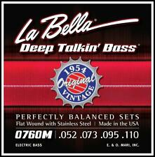 La Bella 0760M Original 1954 Flat Wound Deep Talkin Bass Guitar Strings 52-110