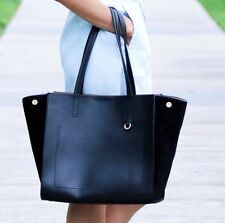 New with tag Banana Republic Pebbled Italian leather Tote  Black Women handbag