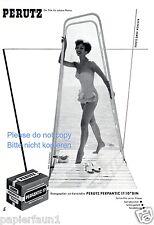 Perutz Film Reklame von 1956 München Badeanzug Dame Meer Bikini Werbung ad  ßß