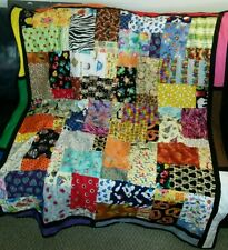 """Handmade Baby Quilt I SPY Learning Colorful Square 62.5"""" x 51"""" toddler patchwork"""