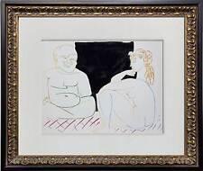 Pablo Picasso LIMITED Edition Lithograph Sur le Presses Mourlot CUSTOM Frame