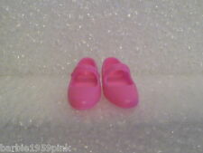 Barbie Shoes -  Brighter Pink Mary Janes For The Flat Footed Poseable Dolls