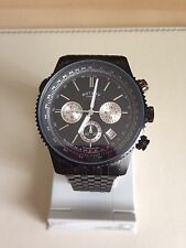 Rotary Men's Black Chronograph Bracelet Watch GB03778/04
