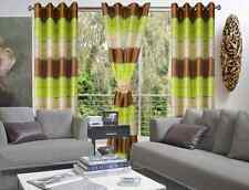 Modern Eyelet Top Curtains 9 Fabulous colours Fine Polyester Organza *UK SELLER*