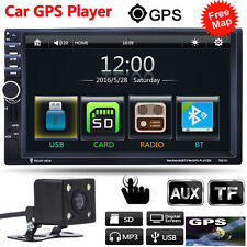 """CAM+ 7"""" 2Din In Dash 1080P Car Stereo MP3 Player Touch GPS Navigation Bluetooth"""