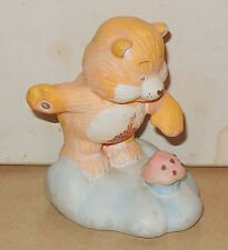Kenner CARE BEARS Birthday bear Ceramic Figurine Vintage 1984