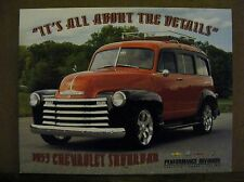 1953 Chevrolet Suburban GM Performance Division Parts Spec Facts Card NEW
