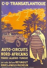Travel Art Poster Africa Renault Tours Michelin Man