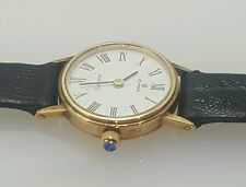 Cyma Quartz lady's  watch in 14 Karat Yellow Gold with  Sapphire crown