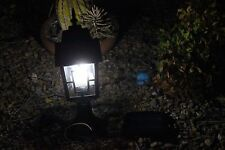 "19""  Large Outdoor Solar powered LED Garden Yard Pillar Light Post Lamp 5017"