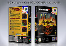 DOOM 64. PAL VERSION. Box/Case. Nintendo 64. BOX + COVER. (NO GAME).