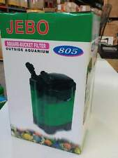 JEBO 805 External Canister Filter with 3 stage media for aquarium use