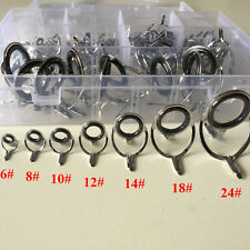 Rod Repair Kit 100Pcs Mixed Size Fishing Rod Guides Line Rings For Building