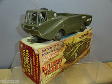 VINTAGE MARX BATTERY OPERATED MODEL No. AMPHIBIOUS MILITARY VEHICLE  VN MIB
