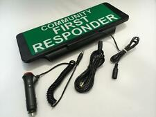 LED Univisor COMMUNITY FIRST RESPONDER Sign visor illuminated flashing