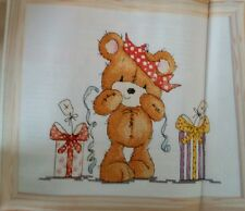 'BIRTHDAY COOKIE BEAR' DESIGN BY GILL COOPER (C5) cross stitch chart