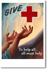 Give To The Red Cross - NEW Vintage Photograph POSTER