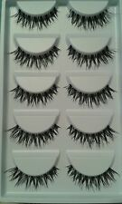 *Value Pack* 5pairs of handmade eyelashes/lashes #Demi Wispies #Nicosia (Black)