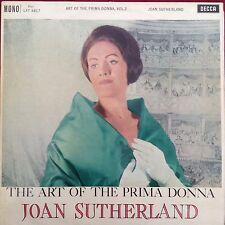 JOAN SUTHERLAND: THE ART OF THE PRIMA DONNA Vol 2. Decca LP LXT5617