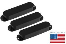 Black Strat Solid Pickup Covers (Set of 3) for Fender Stratocaster Project NEW
