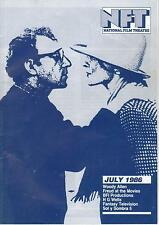 National Film Theatre  July 86 Fantasy Tv; Doctor Who; Past Visions of Future